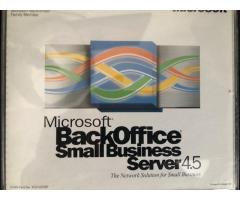 Microsoft back office small business server