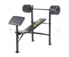 Opti gym bench with 30kg weights