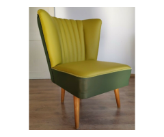 Original Mid Century Contrasting Green Upholstered BARTHOLOMEW Chair 1950s