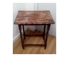 Vintage table, solid, barley twisted legs