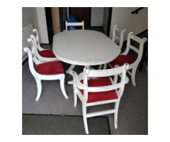 Table and chairs shabby shiek