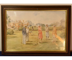 Sporting Scene by Douglas E. West (Signed & Framed)