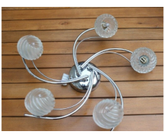 Crome Spiral ceiling light from B and Q (Hugo range)