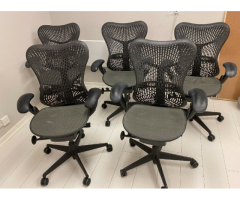 Herman Miller Aeron ergonomic office chair £275 (x8 available)