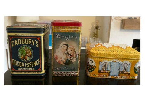 Collectable tins - Cadbury's, Droste & Crabtree & Evelyn