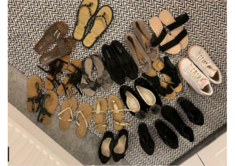 Bundle of ladies shoes and sandals size 6/7